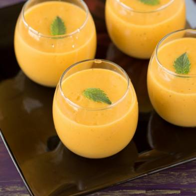 Mango and Banana Smoothie Pudding